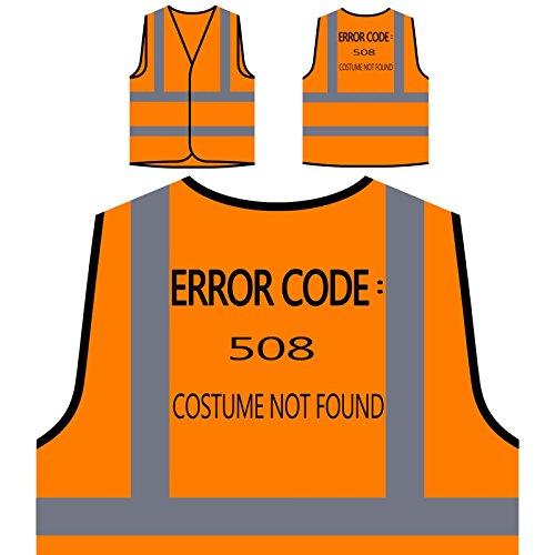 Gefunden Nicht Kostüm - Fehlercode 508 Kostüm Nicht gefunden Personalisierte High Visibility Orange Sicherheitsjacke Weste u227vo