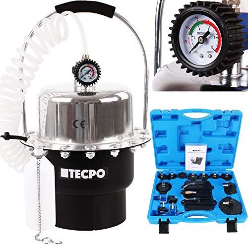 TecPo Bremsen Entlüftungsgerät Bremsenentlüfter Druckluft Werkzeug Kfz entlüften Auto