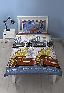 "Disney CARS 3"" Lightning Duvet Set Repeat Print Design, Multi-Colour, Single"