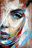 Le visage de femme II - Abstraktes Acrylportrait auf Leinwand - Martin Klein signiert