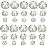EXCEART 600 Piezas de Perlas Medias Perlas Perlas Redondas Planas Perlas de Imitación Semicírculo Perlas 3 Mm 5 Mm 8 Mm Sumin