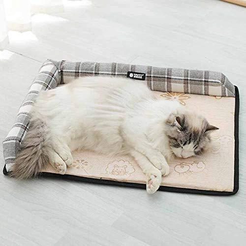 MM Betten Ultra Soft Pet (Hund/Katze) Bett Mit Niedlichen Prints Kühle Schlafmatte Maschinenwaschbare Tierbettwäsche (Color : 3, Size : S) -