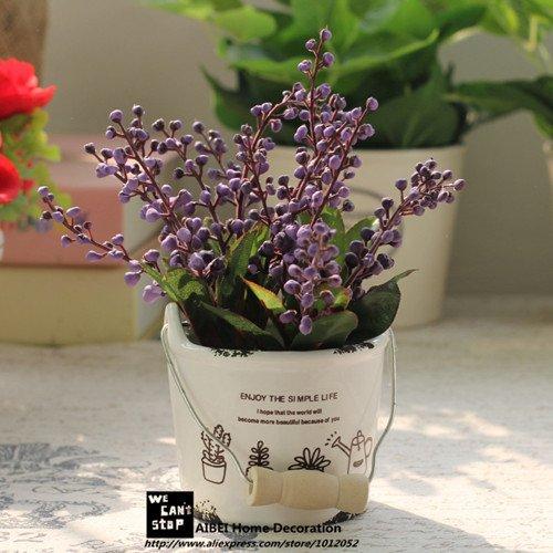 Lndlich Stil Zakka Keramik Tpfe Pflanz Auspicious Frchte Knstliche Blumen  Bonsai Simulation Grne Pflanzen Home Garten
