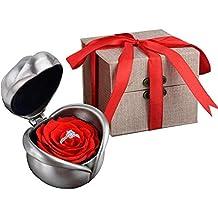 Kapmore Rosa Preservada, Flores Preservadas Con Bonita Caja de Regalo Como Vacaciones de Navidad Valentine