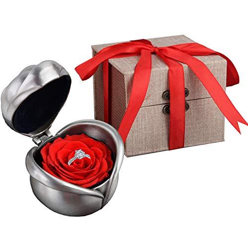 Fiore Conservato, Kapmore Conservato Red Rose Fiore Regalo per San Valentino,...