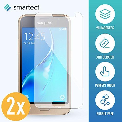 smartect Panzerglas für Samsung Galaxy J1 2016 [2 Stück] - Bildschirmschutz mit 9H Härte - Blasenfreie Schutzfolie - Anti Fingerprint Panzerglasfolie