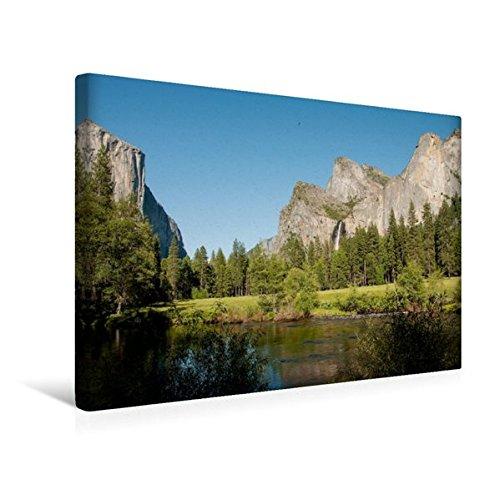 Premium Textil-Leinwand 45 cm x 30 cm quer, Yosemite Nationalpark | Wandbild, Bild auf Keilrahmen,...