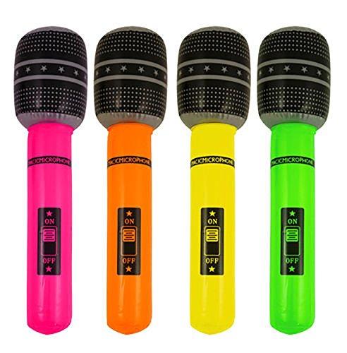 Islander Fashions aufblasbare verschiedene Farben Mikrofon 40 cm Blow Up Stag tun Hen Party Zubeh�r Einheitsgr��e