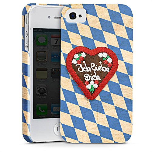 Apple iPhone X Silikon Hülle Case Schutzhülle Love Muster Oktoberfest Premium Case glänzend
