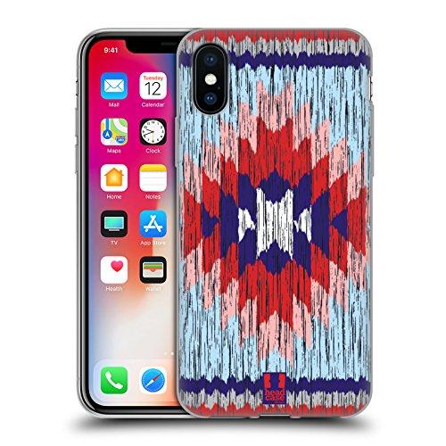 Head Case Designs Fiesta Bois De Construction Copies Tribales Étui Coque en Gel molle pour Apple iPhone 5c Autochtone Bleu