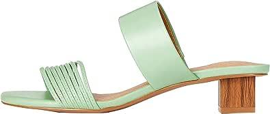 Marchio Amazon - find. - Inset Heel Strippy Mule, Scarpe col tacco Donna