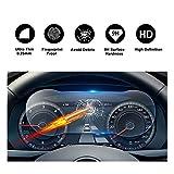 RUIYA Pellicola salvaschermo automatica per vetro temperato per (2017) (2018) Volkswagen Tiguan II GTE Allspace, cruscotto, coperture per pannelli degli strumenti[12,3 pollici]