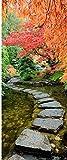 Sticker Porte Trompe l'oeil Chemin Nature - SAPP7118 (63x204cm)