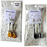 Music Legend Collection Boucles d\'oreilles en forme de guitare en métal
