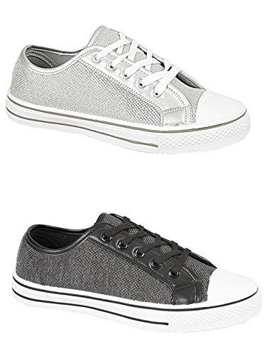 Foster Footwear , Sandales Compensées fille femme Noir