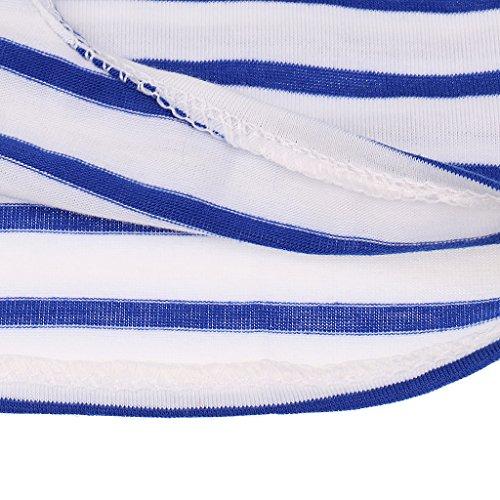 MagiDeal Donne Camicetta Top T-shirt Maglietta Casuale Canotte Camicie Gilet da Estate Blu