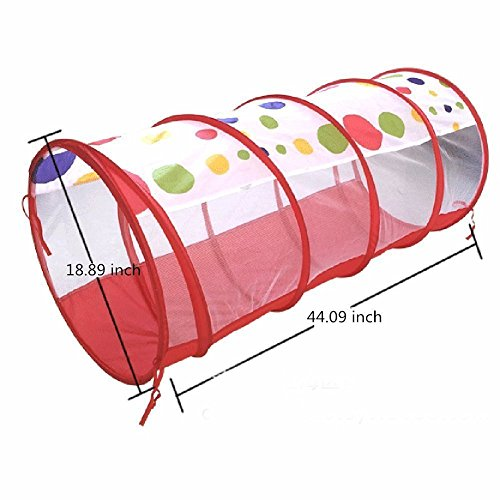 Play-House-Tent-Tunnel-IndoorOutdoor-Play-Tunnel-and-Play-Tent-Cubby-Tube-Teepee-3-In-1-Playground-for-Children-Baby-Kids-Toys-Balls-not-included