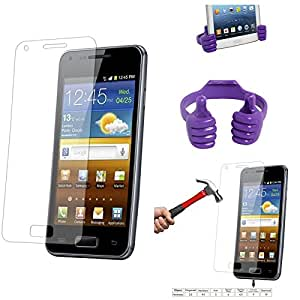 Qualitas Pack of 3 Tempered Glass for Micromax Canvas Knight Cameo A290 + Mobile Holder Hand Stand