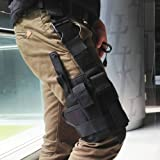 Docooler Outdoor Jagd Tactical Bag Gamasche Oberschenkel Bein Pistole Holster Pouch Wrap Around schwarz