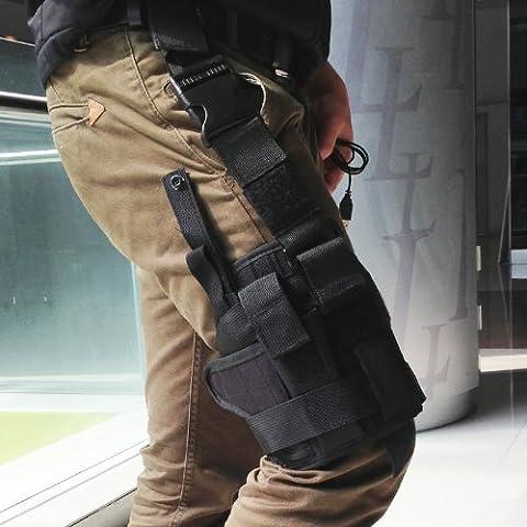 Lixada all'aperto caccia tattico mollettiera Coscia Gamba pistola Fondina Pouch wrap-around per militari, forze dell'ordine, i cacciatori, casa - Tattico Pistola
