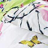 Designers Guild Madame Butterfly Funda de Almohada algodón/percal de algodón Lime 70x 50cm
