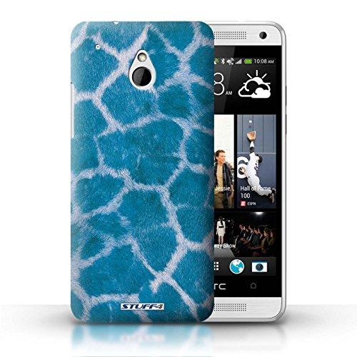 Kobalt® Imprimé Etui / Coque pour HTC One/1 Mini / Vert conception / Série Girafe animale Peau/Motif Bleu
