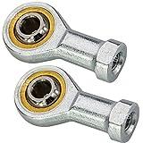 [ JBS basics ] 2 Stück M10 Gelenkkopf [ Innen Gewinde ] Uniballgelenk 10 mm [ Rechtsgewinde ] Gelenklager Kugelgelenk [ Wartungsfrei ] Lager Spur NEU Rod End Bearing