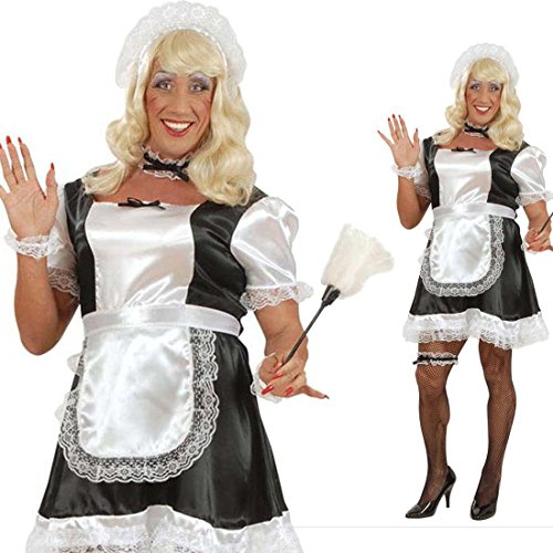Herren Kostüm Dienstmädchen Junggesellenabschied Männer Kostümset XL 54/56 Maid Männerkostüm Drag Queen Lolita Travestie Hausmädchen Männerballett Faschingskostüm