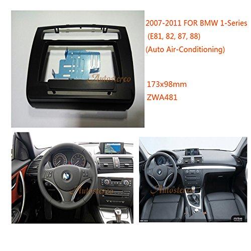Mascherina autoradio 1/DIN per BMW Serie //Z4/ //3er//X1/ * Nero * E84 E87 89