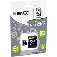 Emtec Mini Super Jumbo Scheda Memoria Micro SD 16GB,