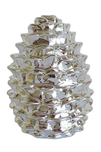 Schöner Tannenzapfen ~ Größe L ~ in edlem silber Design Deko Objekt Tannenzapfen Silber