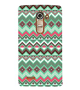 Fiobs Designer Back Case Cover for LG G4 Mini :: LG G4c :: LG G4c H525N (Green Colorful Design Pattern Triangles)