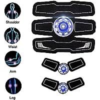 TZLong ABS Estimulador Muscular Abdominal Recargable Toner Trainer-Correa tonificante portátil Ultimate AB estimulador para Hombres y Mujeres