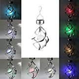 Lightahead® Spiral Spinner Solar Wind Chime with Glowing Magic Ball - Portable Outdoor Decorative Romantic Solar Powered Wind Chime Light