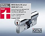 BKS Janus 45 Profil-Doppel-Schliesszylinder Version Chrom-Nickel-Stahl A 55 60 mm