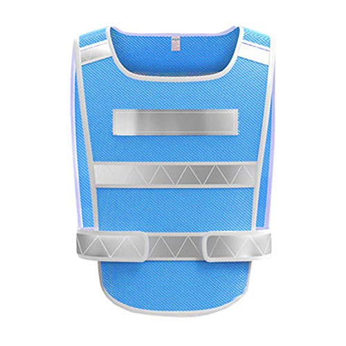 XBQXF Reflektierende Weste, Night Construction Weste/Auto Reflektierende Sicherheitsbekleidung/Reiten Reflektierende Kleidung/Weste, Mehrere Farben (Farbe : Blau, größe : 1 pack)