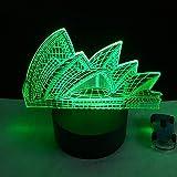 3D ha condotto la decorazione della casa della lampada da letto a Teatro dell'Opera 7colori della luce notturna, regalo di Natale per bambini