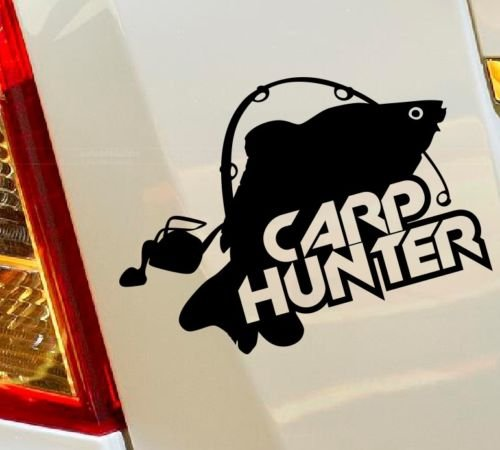 pesca alla carpa Hunter Hunting Fish Truck hobby auto Drift bumper finestra Funny vinyl Van di amore cuore Decor Home Live Kids Funny decalcomania da parete moto