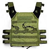 Alexsport JPC Molle Tactical Vest Plate Carrier for Airsoft Paintball CS (OD)