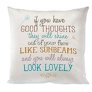 Artylicious Good thoughts, Roald Dahl book quote Linen cushion/pillow