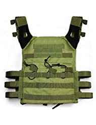 alexsport táctico Molle JPC chaleco Plate Carrier para Airsoft Paintball CS, OD