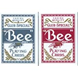 2 PACK BEE PLAYING CARDS 1 BLUE SET & 1 RED SET