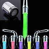365-Shopping Wasserhahn-Aufsatz mit automatischem Farbwechsler durch Wasserkraft - 7 LED Farbwechsler LED Shower mit Beleuchtung