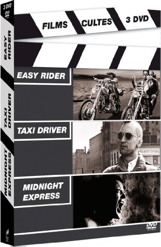 Coffret Films cultes 3 DVD : Easy rider / Taxi driver / Midnight express