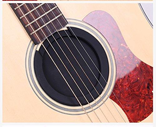 Gitarrenzubehör Edelstahl Paddel/Messing Brücke Pins/Pull Saiteninstrument/Kapodaster/Schallloch Abdeckung/Schulter-Sicherheitsgurt Schnalle (Schalllochabdeckung 80mm) -