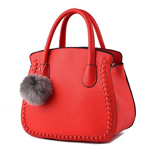 Viola scuro Borse a mano Donna Fashion Borsetta per Ragazze Rosso Borsa
