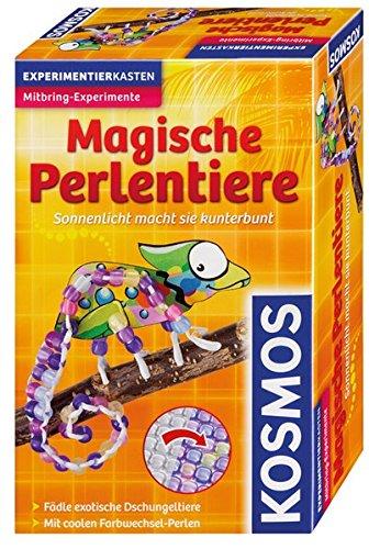 KOSMOS 657420 - Magische Perlentiere, Sonnenlicht macht sie kunterbunt, Basteln und Experimentieren in einem, Experimentierset, Mitbringexperiment