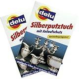 delu Silberputztuch mit Anlaufschutz, Doppelpack (2 x 1 Silberputztuch) -