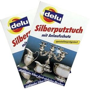 delu Silberputztuch mit Anlaufschutz, Doppelpack (2 x 1 Silberputztuch)