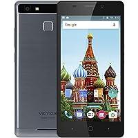 Vernee Thor E 4G Smartphone 5.0 pulgadas Android 7.0 MTK6753 Octa Core 1.3GHz 3GB RAM 16GB ROM Touch Sensor 5020mAh Batería Full Metal Cuerpo Gris